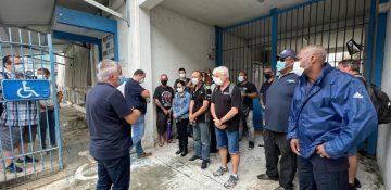 Une trentaine de policers de la DTPN se sont rassemblés ce mercredi devant le commissariat de Cayenne
